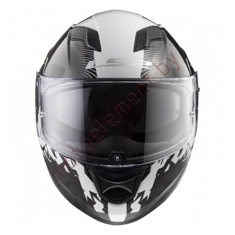 Мотошлем LS2 FF320 STREAM EVO HYPE (Black White Titanium)