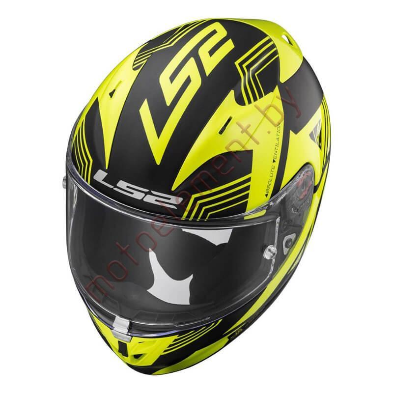LS2 FF323 ARROW R EVO Neon (Black Yellow)