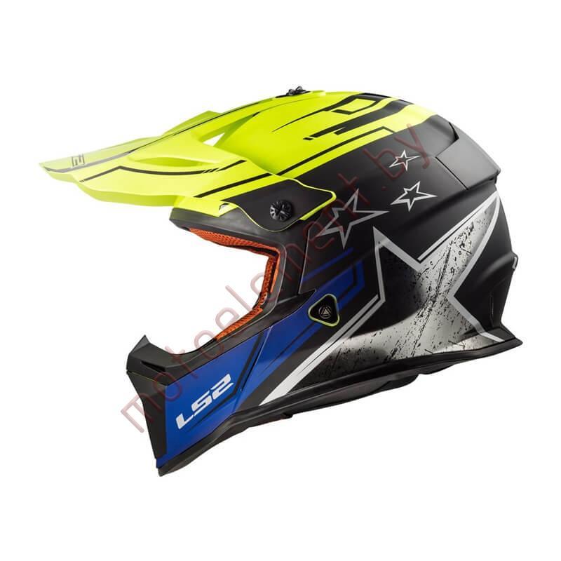 LS2 MX437 FAST Core (Black Yellow)