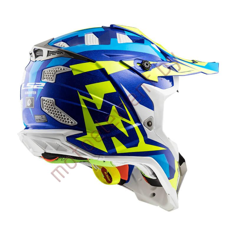 LS2 MX470 SUBVERTER Nimble (White Blue Yellow)