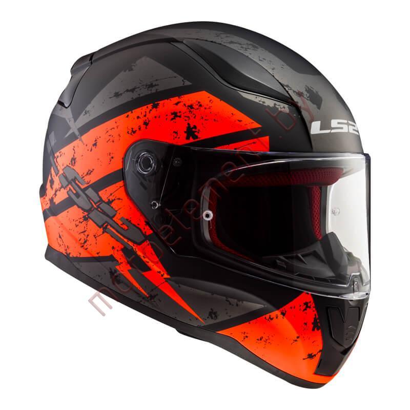 LS2 FF353 RAPID Deadbolt (Matt Black Orange)
