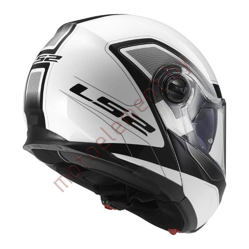 LS2 FF325 STROBE SNOW Civik (White Black)