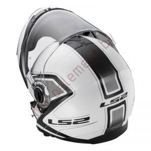 LS2 FF325 STROBE SNOW Civik (White Black)