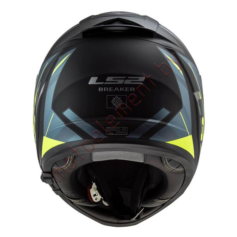 LS2 FF390 BREAKER Beta (Matt Grey Blue Yellow)