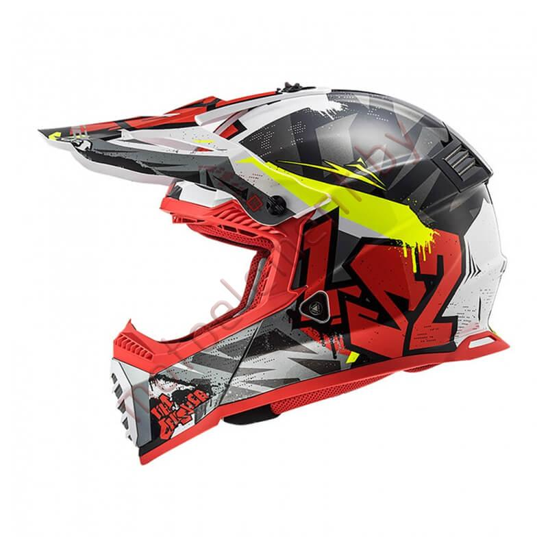 LS2 MX437 FAST Crusher (Black Red)