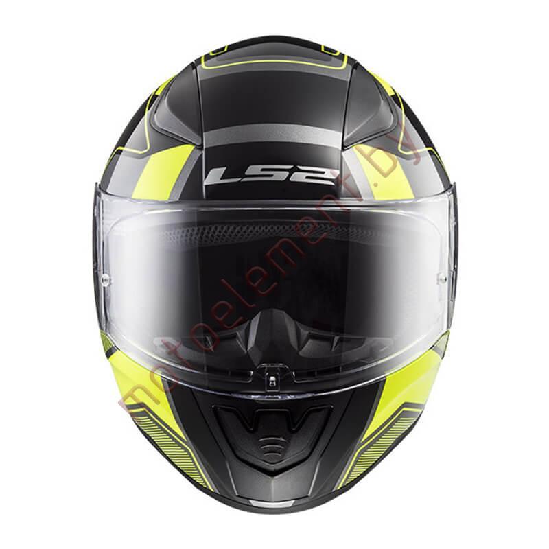 LS2 FF353 RAPID Carrera (Matt Black H-V Yellow)
