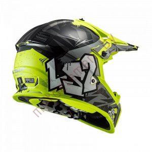 LS2 MX437 FAST Mini Crusher (Black Yellow)